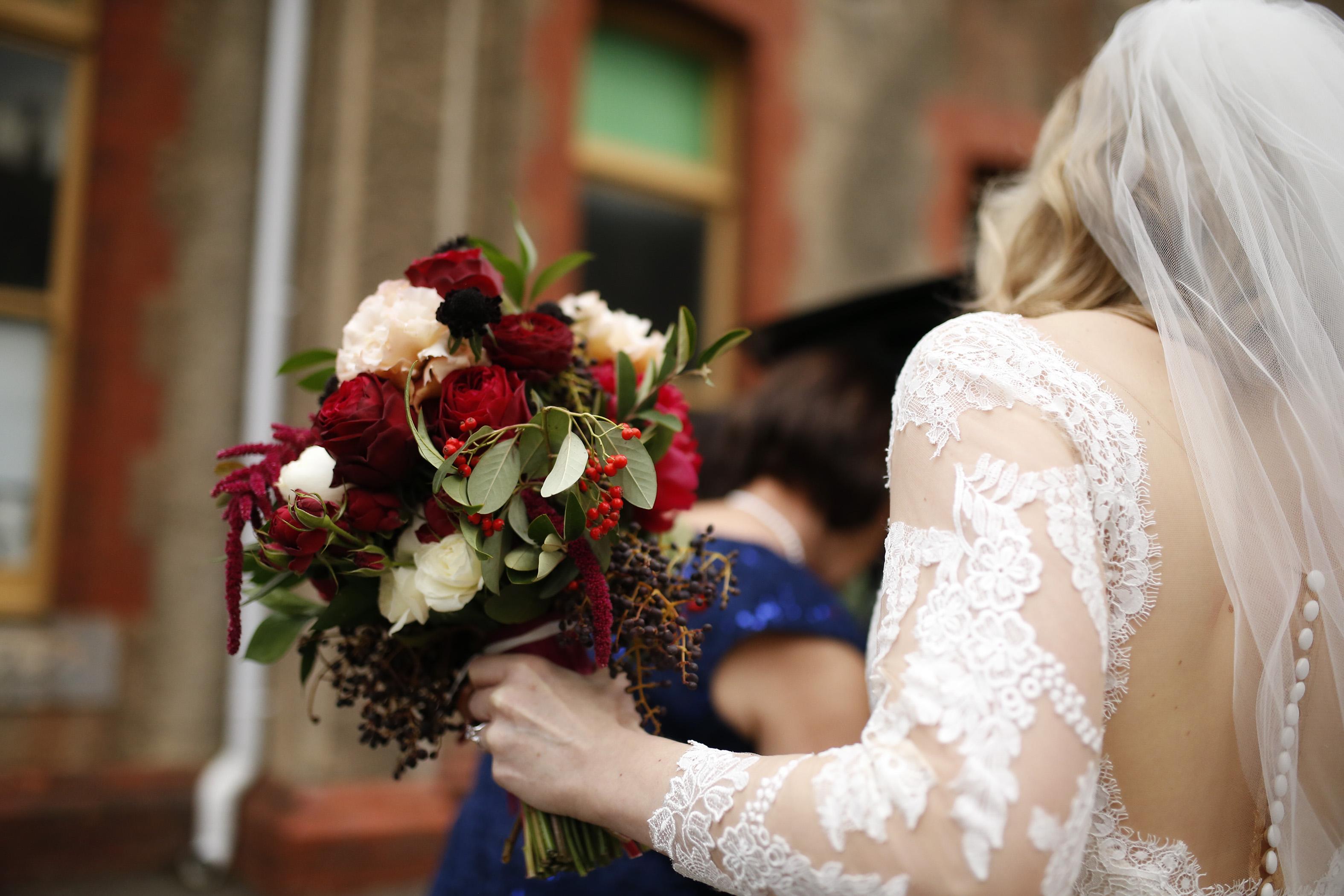 Domed bride bouquet