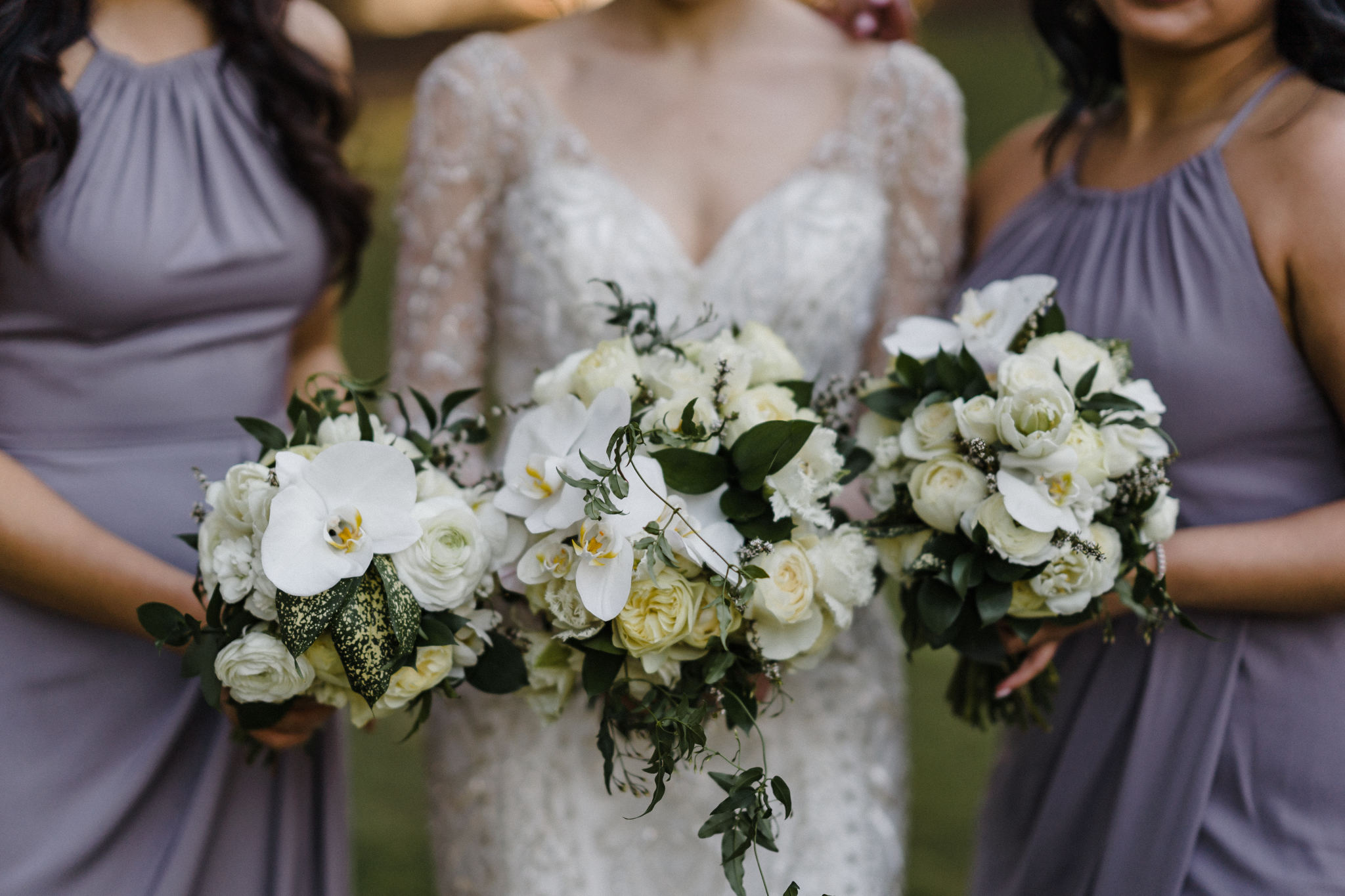 Spring bridal party bouquets