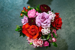 Jewel coloured bouquet