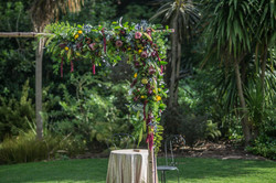 Native inspired ceremony arch