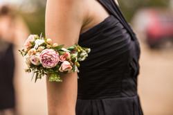 Fresh floral arm corsage