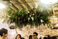 Hanging botanical instillation
