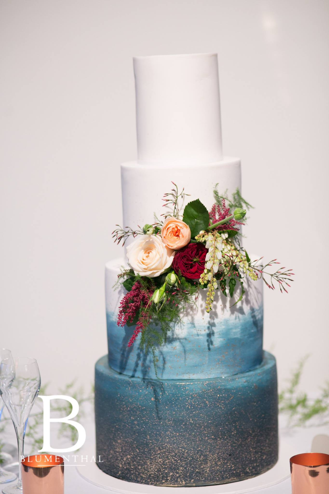 Wedding cake floral spray