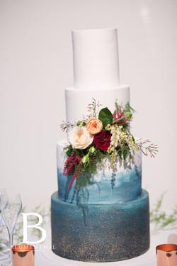 Wedding cake floral spray