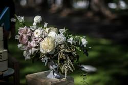 Feature arrangement of garden roses