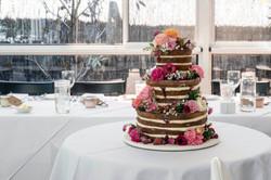 Fresh floral wedding cake decoration