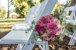 Ceremony pew end flowers