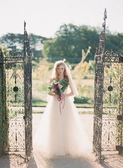 Marone coloured wedding bouquet