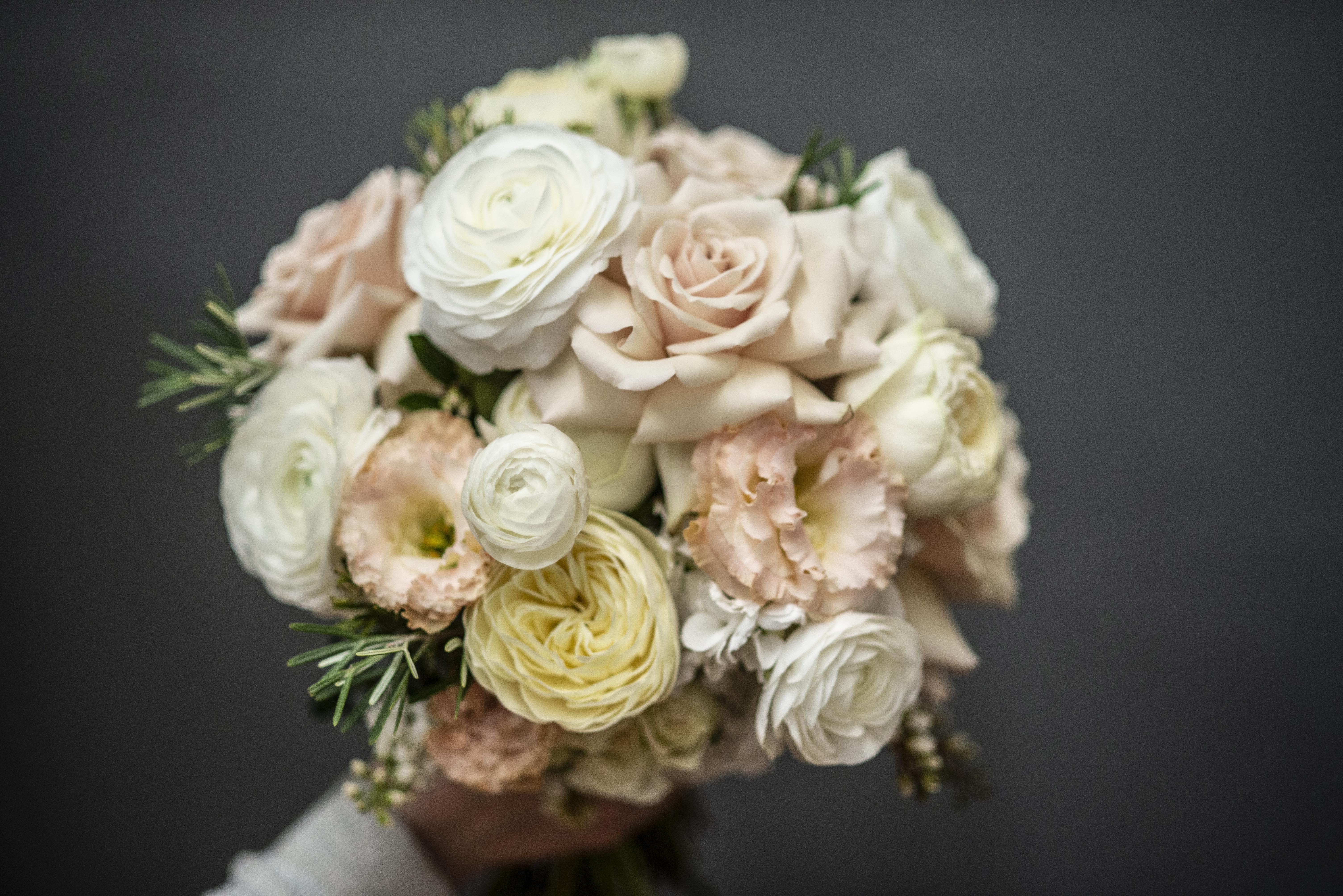 Blush pink and cream bouquet