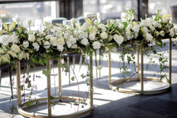 Spring bridal table flowers