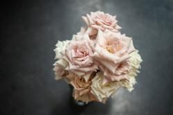 Unstructured garden rose bouquet