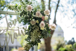 Ceremony flower arrangement detail
