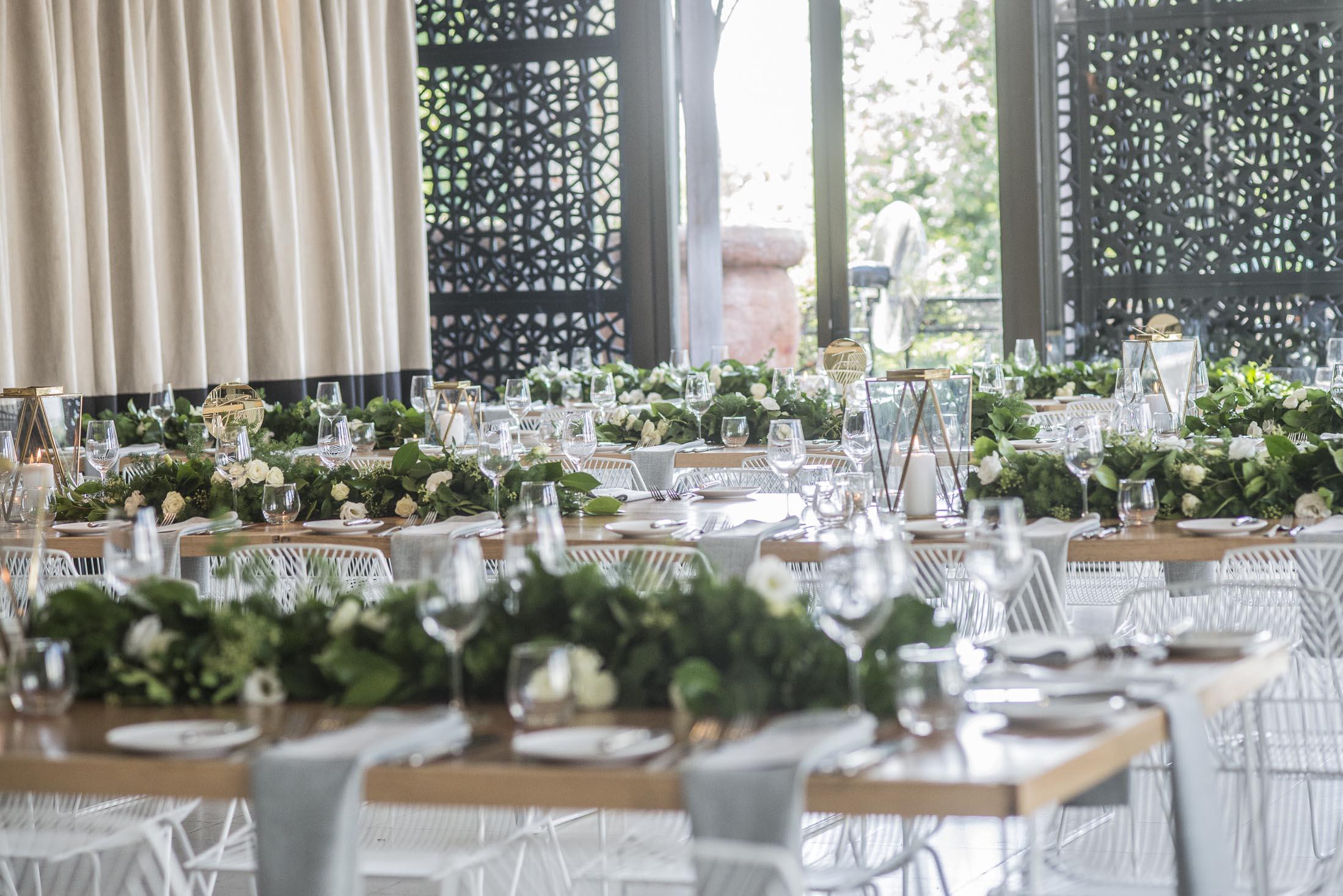 Table garlands Melbourne