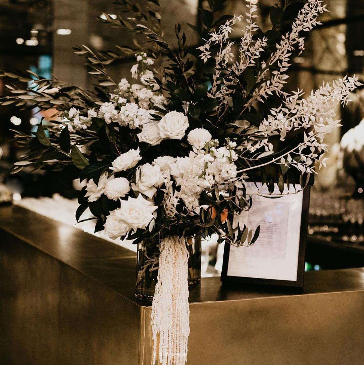 Bar flower arrangement