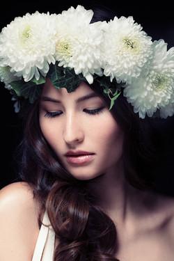 White floral flower crown Melbourne