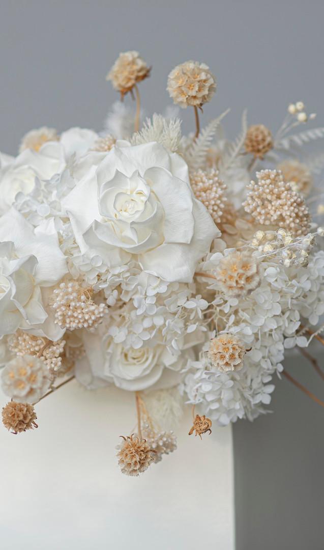 Dried flower brides bouquet