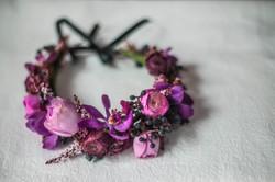Pink purple and plum flower crown