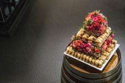 Floral cake topper & dividing layer