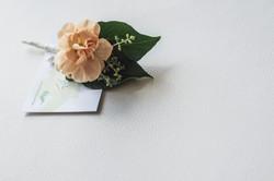 Apricot Bridal Buttonhole