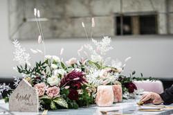 Fresh floral bridal table garland