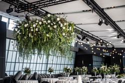 Floral & foliage chandelier