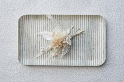 Buttonhole made of dried flowers