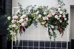 Fresh floral photo booth backdrop