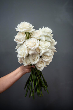 Cream rose filled bouquet