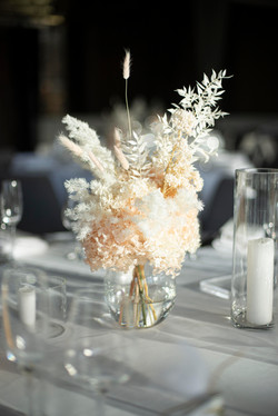 Preserved & dried reception table arrangements