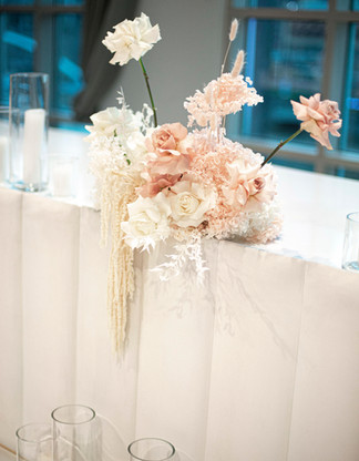 Preserved & fresh bridal table flowers