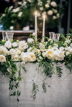 Bridal table arrangement