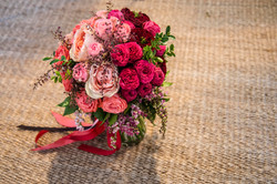 Pink ombre bridal bouquet