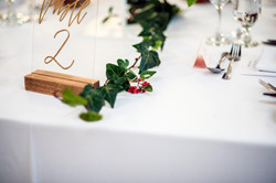 Table vines with red berries