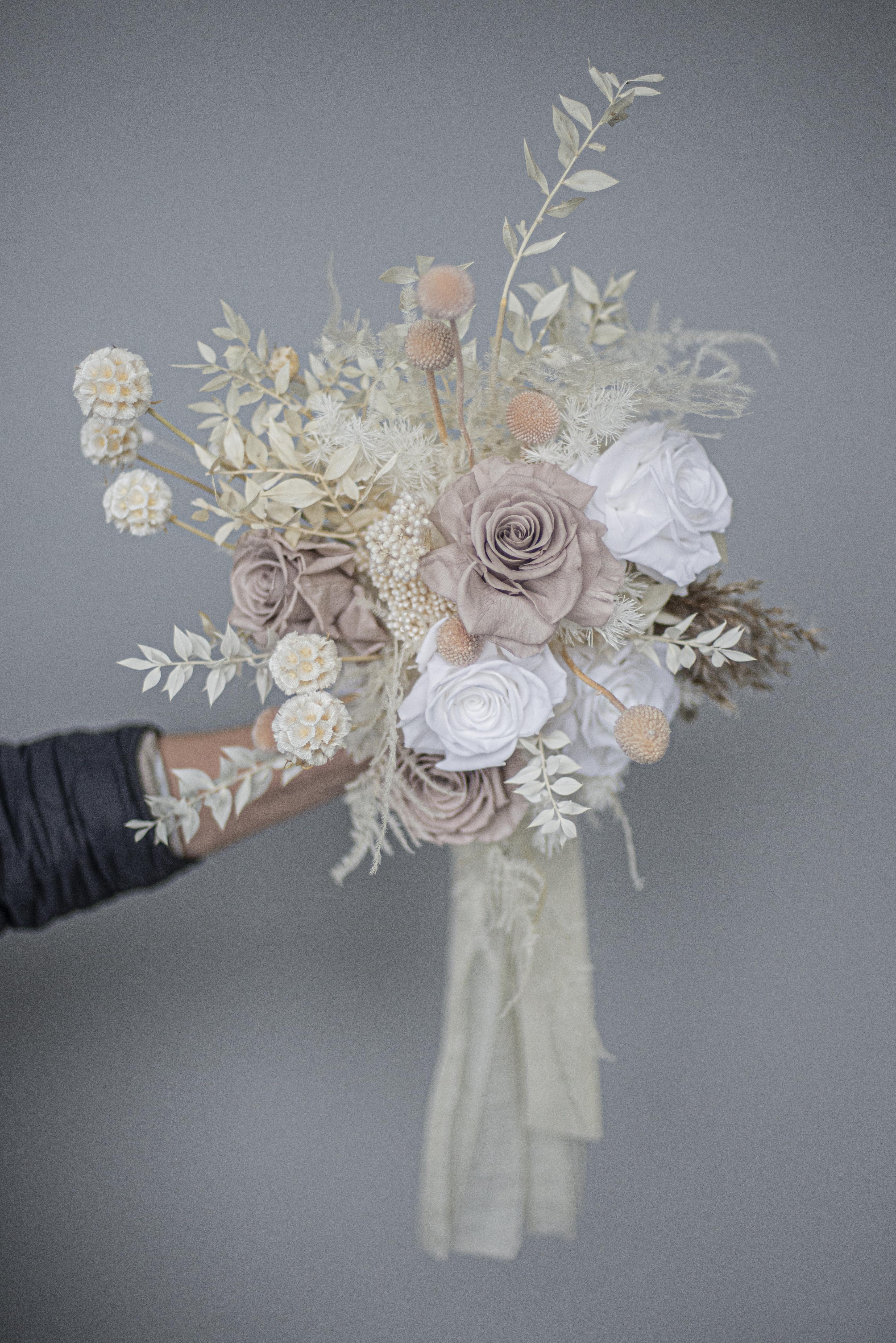Dried & preserved floral brides bouquet