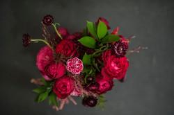 Unstructured bride bouquet
