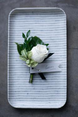 Fresh flower buttonhole