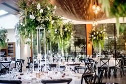 Canopy stand floral arrangements