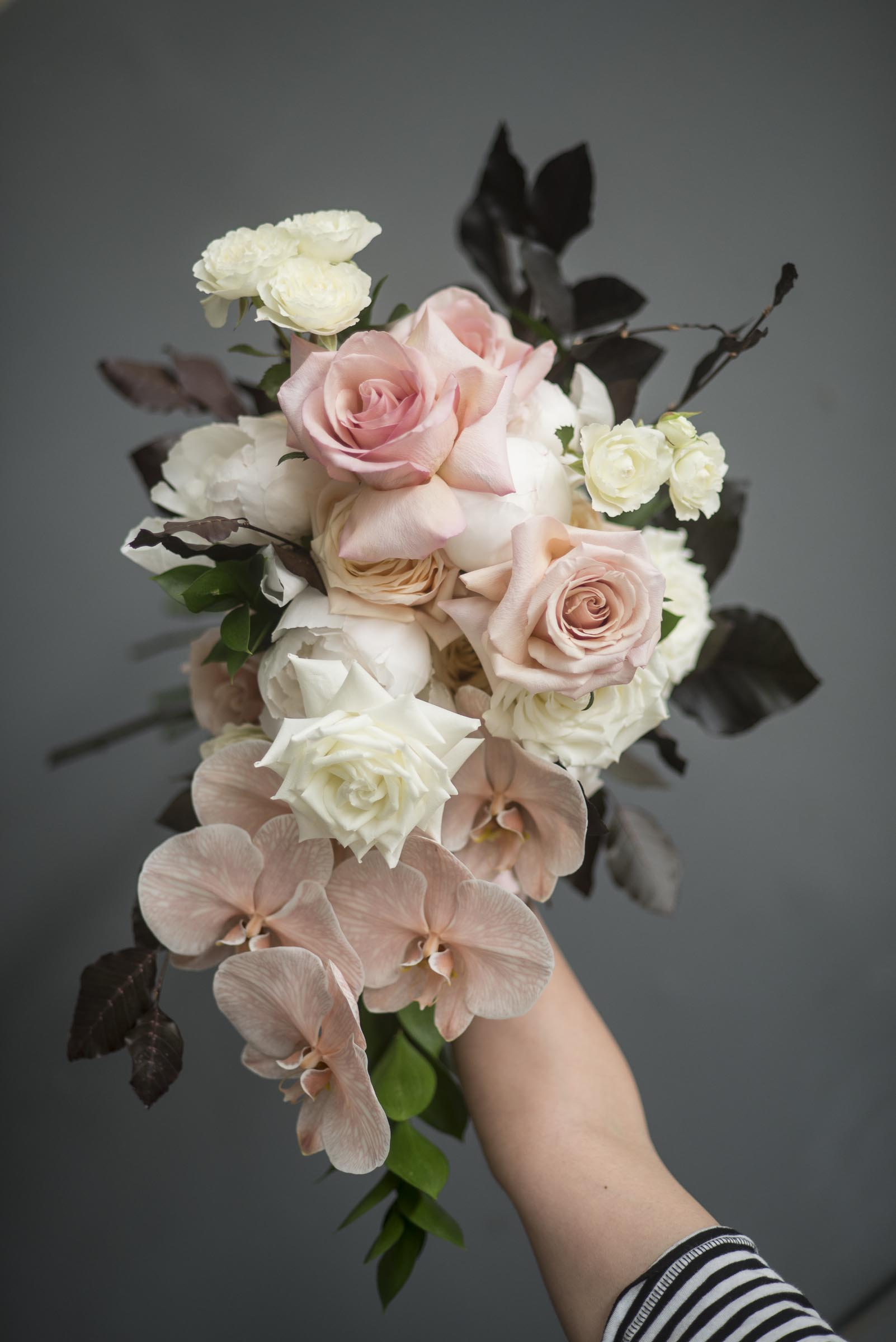 Cascading brides bouquet
