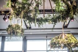Bespoke hanging floral chandelier