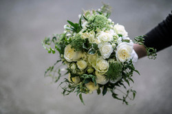 Bride bouquet, in whites and creams