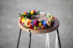 Colourful brides flower crown