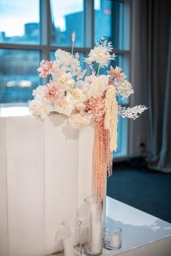 Fresh & preserved flowers - bridal table arrangements