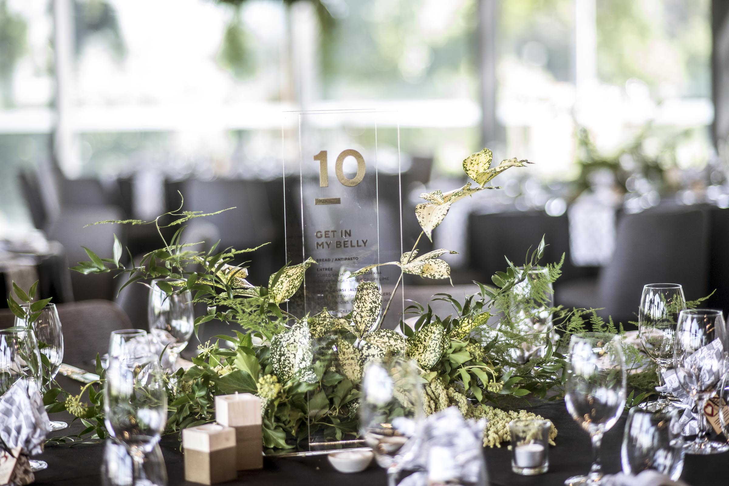 Foliage table centrepiece