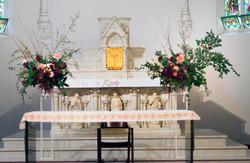 Abbotsford Convent wedding ceremony flowers