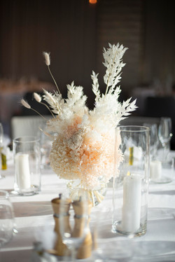 Preserved & dried guest table arrangements