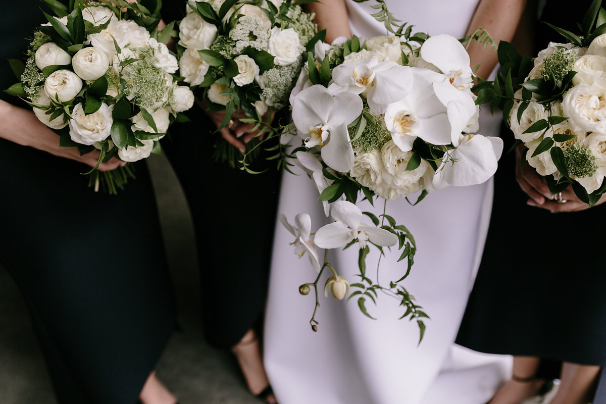 Green, white and cream bouquet