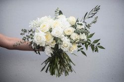 Cream & silvery green bouquet