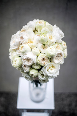 White David Austin bride bouquet