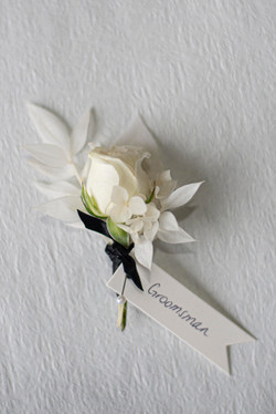 Preserved floral buttonhole
