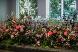 Garden bridal table arrangement